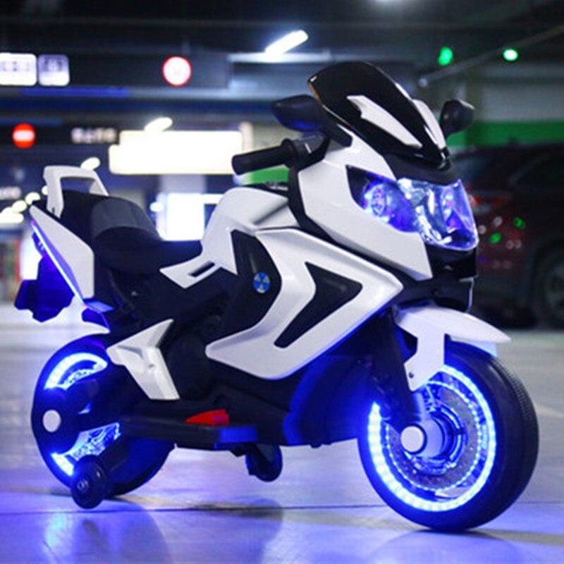 Enfants de moto électrique bébé tricycle grand 1 à 8 année-vieux enfant chargé bouteille jouets peut prendre les gens enfants de cadeau