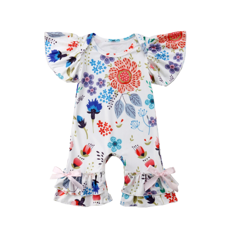 6ed2525cd72d Detail Feedback Questions about Infant Newborn Baby Girls Ruffles Romper  Jumpsuit Floral Xmas One Pieces Clothes Outfit Rompers on Aliexpress.com