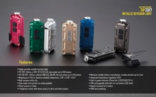 Nitecore TIP USB Rechargeable LED with battery key button Light Lighting Lamp Flashlight Torch Keychain LED outdoor daily Light sale nitecore holiday gift set tip 2018 metal micro usb rechargeable key button light clip mini edc small flashlight 5 colors