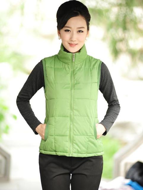 Hot!  Winter Warm Woman Down Vest For Man and Woman Waistcoat Lover Down Vest Coat Jacket  Large size XL-XXXXL Factory sales