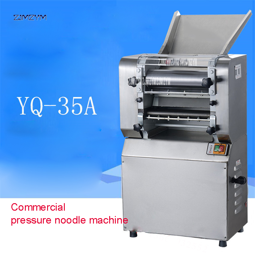 Automatic Noodle Pressing Machine Electric Pressure Stainless Steel Commercial High-Power Dough Rolling Machine YQ-35A 220V/50HzAutomatic Noodle Pressing Machine Electric Pressure Stainless Steel Commercial High-Power Dough Rolling Machine YQ-35A 220V/50Hz