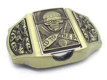 Skull Bronze Lighter Buckle