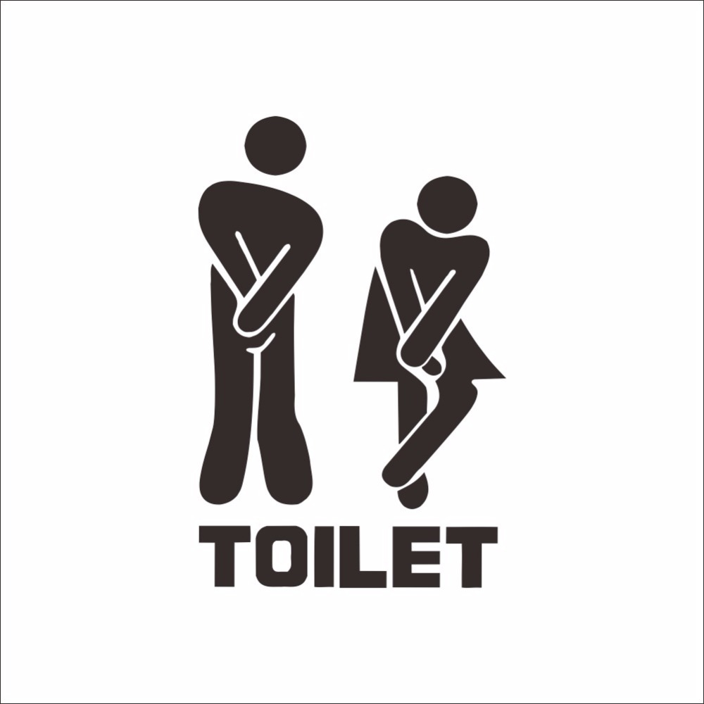 Affiche Salle De Bain ~  3d moderncreative toilettes autocollant porte toilettes papier