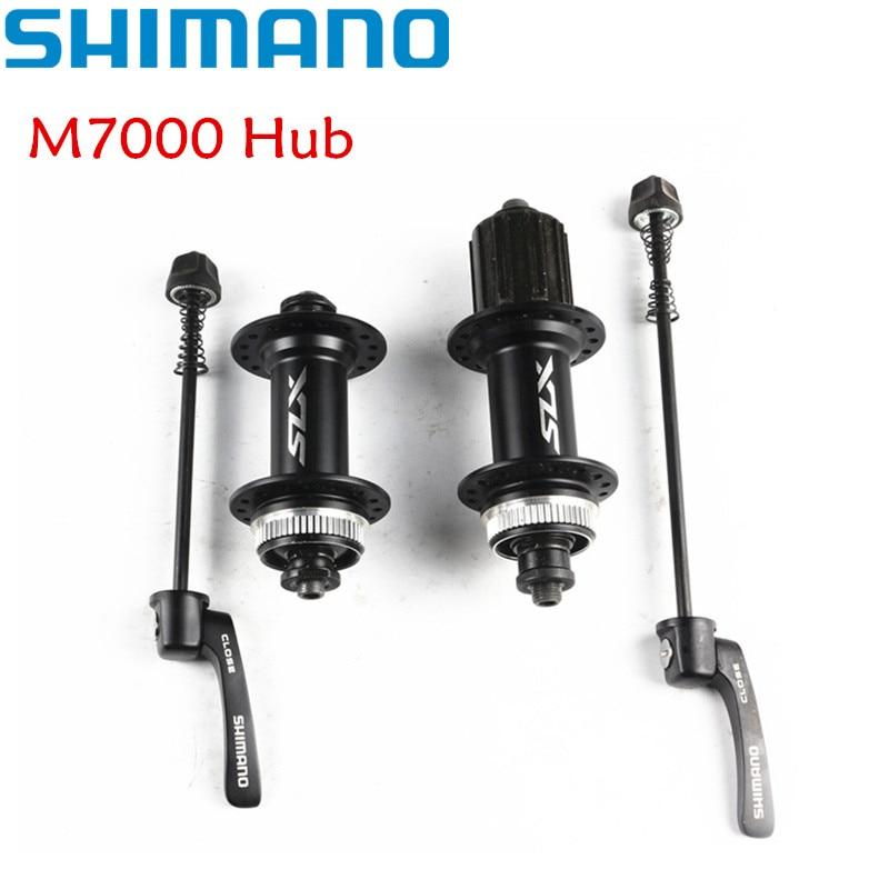 SHIMANO XT M7000 Hub & Quick Release 8/9/10/11 speed Front Rear Disc Brake Skewer 32H Center Lock hub shimano deore m615 32h center lock bicycle hub front