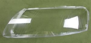 Image 4 - 2 PCS Fari di Plastica Borsette Paralume Fari obiettivo di Vetro di Copertura del faro Borsette per 06 11 Audi A6 A6L C6