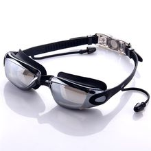 Фотография 2017 NEW Professional Anti-fog UV Waterproof Swimming Goggles Swimming Glasses With Earplug for Men Women Water Sports Eyewear