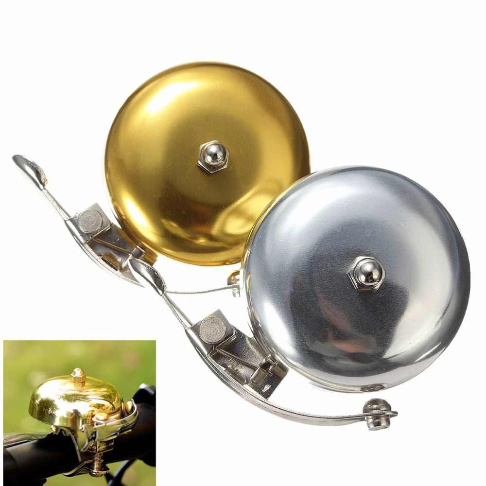Metal Bell Ring Loud Sound One Touch Classic Handlebar Cycling Bicycle Horn Alarm Accessory Bicycle Bell Retro Cycle Push Bike