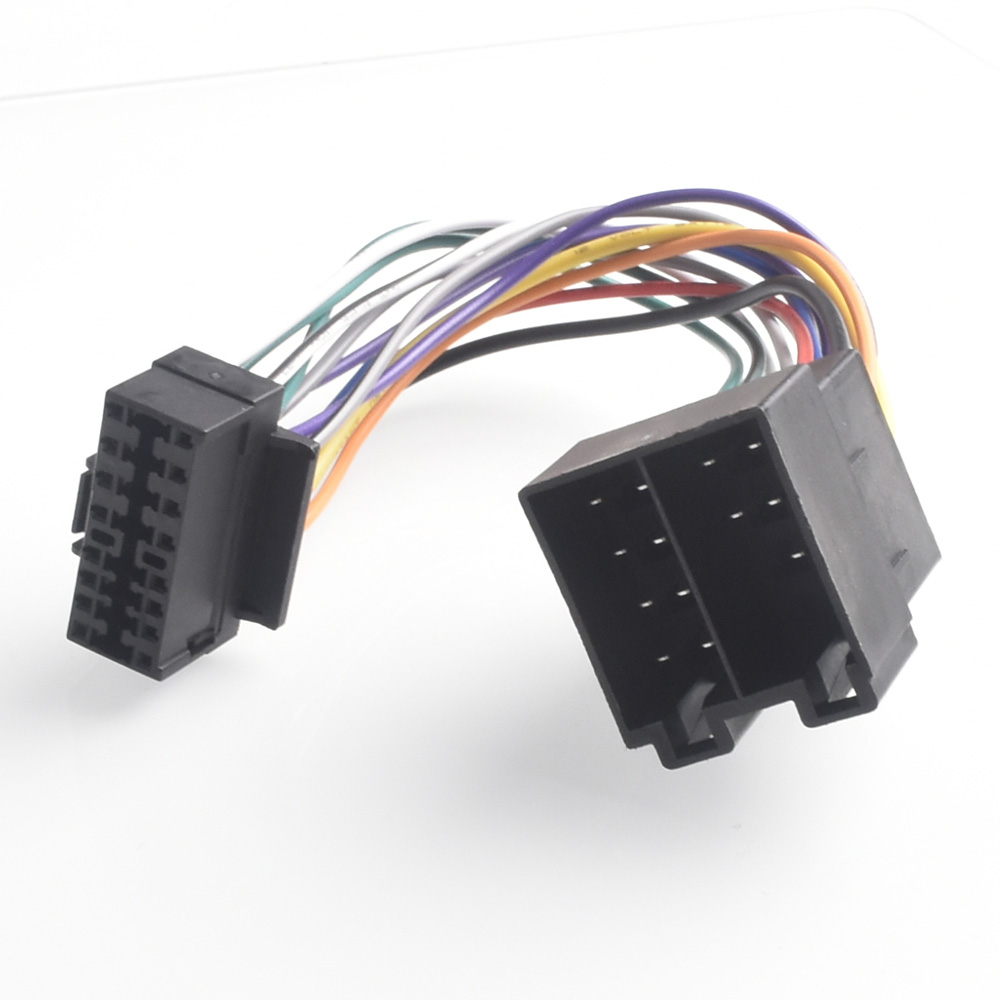 hight resolution of 16pin car stereo radio harness iso for sony radio to iso radio play plug auto adapter