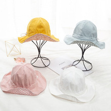 Summer 4 Color Kids Hat Solid Color Baby Double-Sided Caps