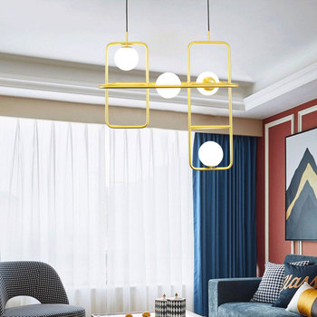 Salotto Moderno Ha Portato Luce Del Pendente Ristorante Minimalista Lampada A Sospensione Nordic Abbigliamento Decorazione Palla Di Vetro Lampada A Sospensione