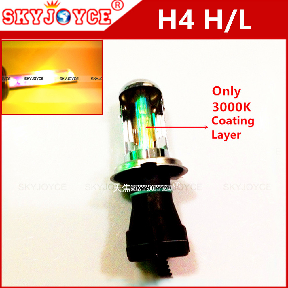 2X 35W 12V AC H4 hid xenon 4300K 6000K 8000K 3000K gold yellow Car Auto H4-3 Bi Xenon Light H4 Hi/Lo Beam HID Bulbs Bi-Xenon H4 купить