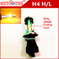 2X35 W 12 V AC xenon hid H4 4300 K 6000 K 8000 K 3000 K ouro amarelo carro Auto H4-3 Bi Xenon Luz H4 Hi/Lo Feixe Lâmpadas HID Bi-Xenon H4