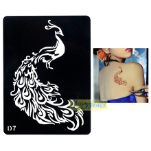 1pc Beautiful Peacock Style Large Henna Flash Temporary Unscented Tattoo Women Body Art Painting Stencils In Daily Party D07