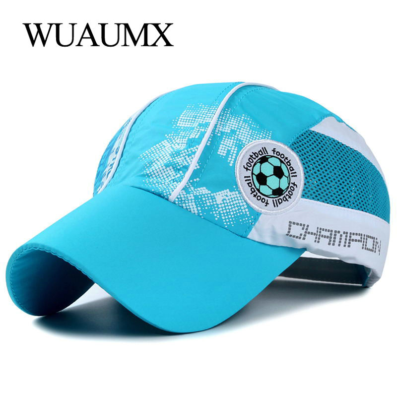 3a0d42b94bc Wuaumx 2018 Summer Children s Baseball Cap Quick Dry Mesh Cap Boys Girls  Baseball Caps For Child Breathable Adjustable Sun Hat
