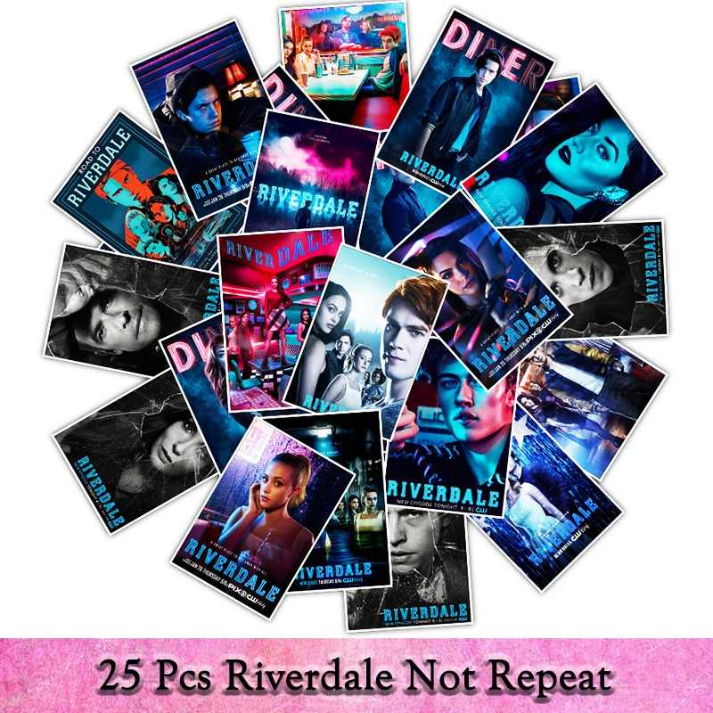 25pcs/pack waterproof TV  Series Riverdale Graffiti Sticker For Children Toys The Luggage Stickers For Laptop stickers