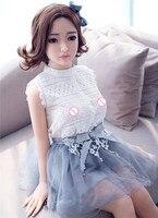 L'europe en Franchise D'impôt 140 cm Poupée de Sexe Réel Silicone Poupées de Sexe Réaliste Japonais Mini Mannequins Sexy Petite Fille Pour Le Sexe