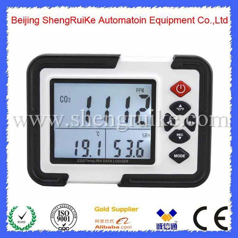 Portable Digital CO2 Meter CO2 Monitor Detector 9999ppm CO2 Analyzers Temperature Relative Humidity Test 9999ppm carbon dioxide co2 monitor detector air temperature humidity logger