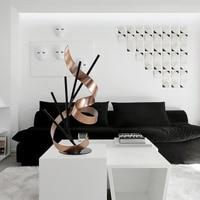 Tooarts прямой линией и ленты современный Скульптура металла Скульптура гладить абстрактный Скульптура офис украшения дома стол орнамент