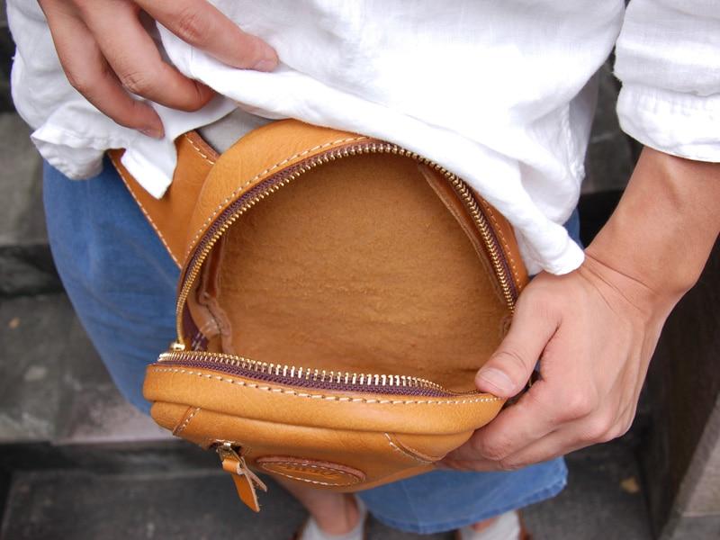 Ручной работы кожа груди мешок кожаная сумка Pattern рисунок DIY бумажной версии BXK-14 карманов