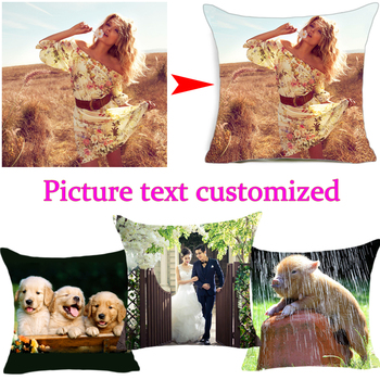 New Design Picture here Print, Pet ,wedding personal life photos customize gift home cushion cover pillowcase Pillow cover fuwatacchi design picture here print
