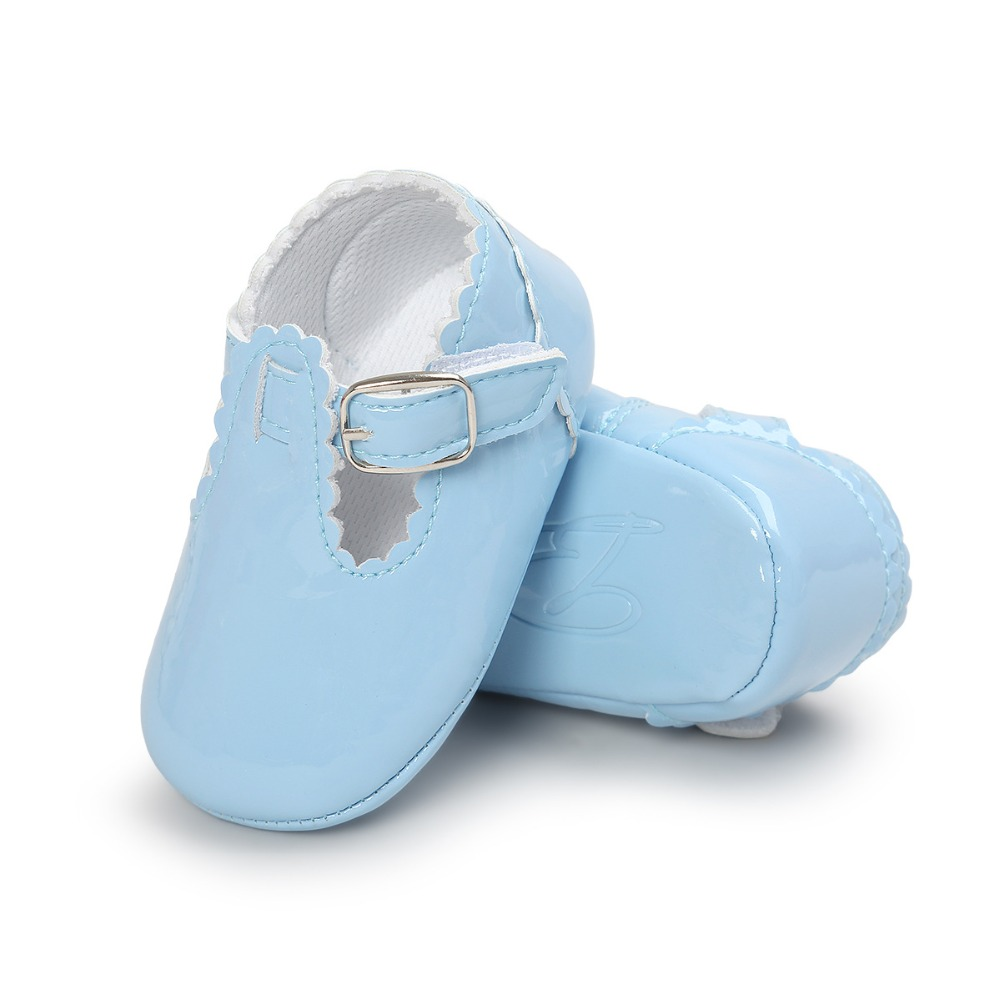 Fashion PU Leather Baby Moccasins Shoes T-bar Red Baby Girl Ballet Princess Shoes Soft Sole First Walker Baby Crib Shoes