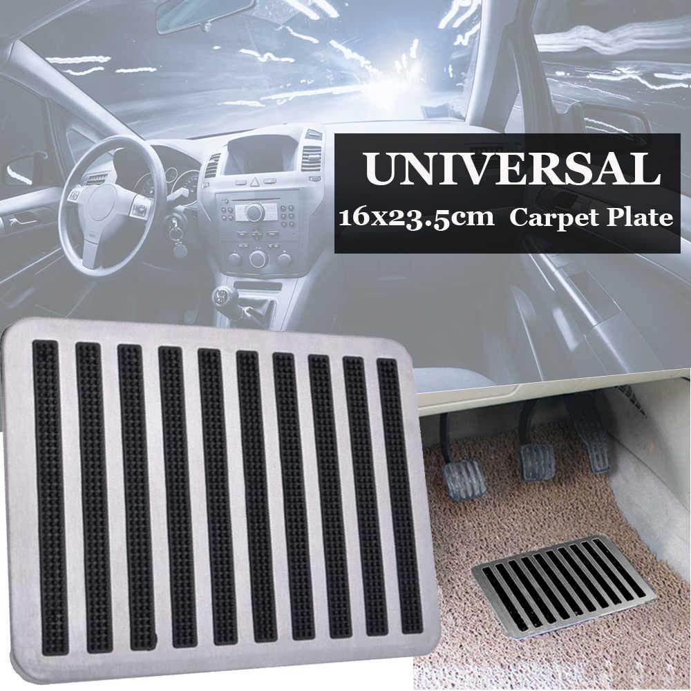 Acero inoxidable impermeable Universal conductor Auto Interior alfombra parche pie Pedal almohadilla antideslizante 23,5X16 cm