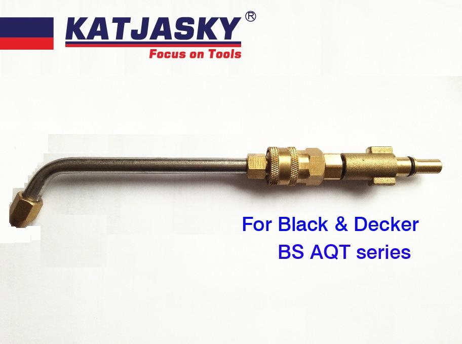 bent nozzle fit black decker/BS AQT washing gun for washing air condition bent 60 degree high pressure washing