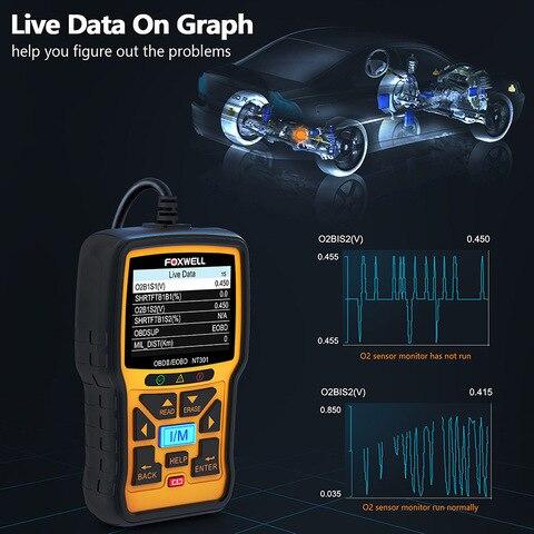 Foxwell NT301 OBD OBD2 Scanner Car Engine Code Reader Diagnostic Tool Multi-languages Universal odb 2 odb2 Automotive Scanner Multan