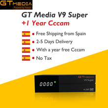 GT media Satellite Receiver V9 Super DVB-S2 H2.65 FREESAT SUPER TV HD 1080P with 1 Year 5 Clines Lines