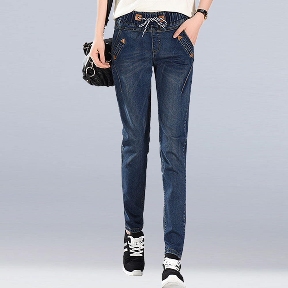 af64a4d9c74e3 New Fashion Plus Size Women s Jeans Vintage Loose Casual Denim Harem Pants  BF Style Woman Jeans High Waist Long Pants Trousers