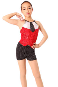 020b8874b3f746 aikescaike Costumes Girls Professional Skirt Dancewear Top