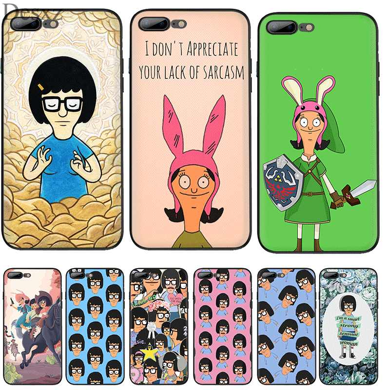 Desxz Cell Phone Case Silicone TPU for iPhone 7 8 6 6s Plus X XS Max XR 5 5s SE Cover cartoon Bob Is Burgers Lovely Shell