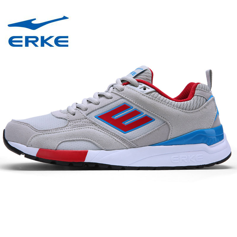 ERKE Mens Synthetic Leather Sports Outdoor Running Shoes Sneakers For Men Sport Running Jogging Run Shoes Sneaker Man 39-44# 2016 sale hard court medium b m running shoes new men sneakers man genuine outdoor sports flat run walking jogging trendy