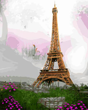 """DIY Painting By Number – Eiffel (16""""x20"""" / 40x50cm)"""