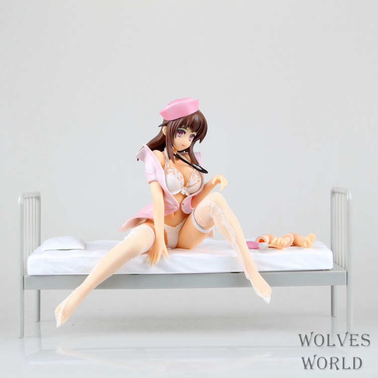 Anime <font><b>Sex</b></font> Girls Lechery Daydream Nurse Miyuu <font><b>1/6</b></font> Sexy PVC Action <font><b>Figure</b></font> Brinquedos Collectible Model Toy 16CM image