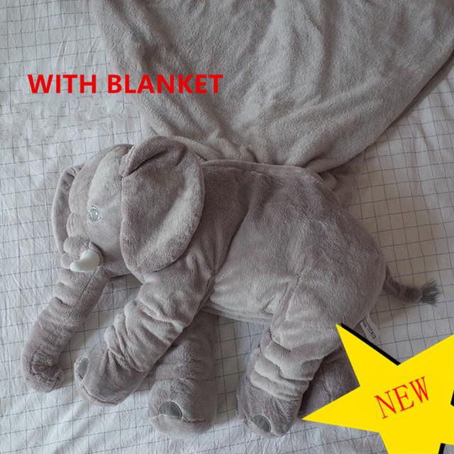 Atualizado Elefante Super Macio Assento Cusion travesseiro Brinquedo Boneca Calma Bebê Cama Berço Do Bebê Crianças Portátil Quarto de Cama jogo de Cama