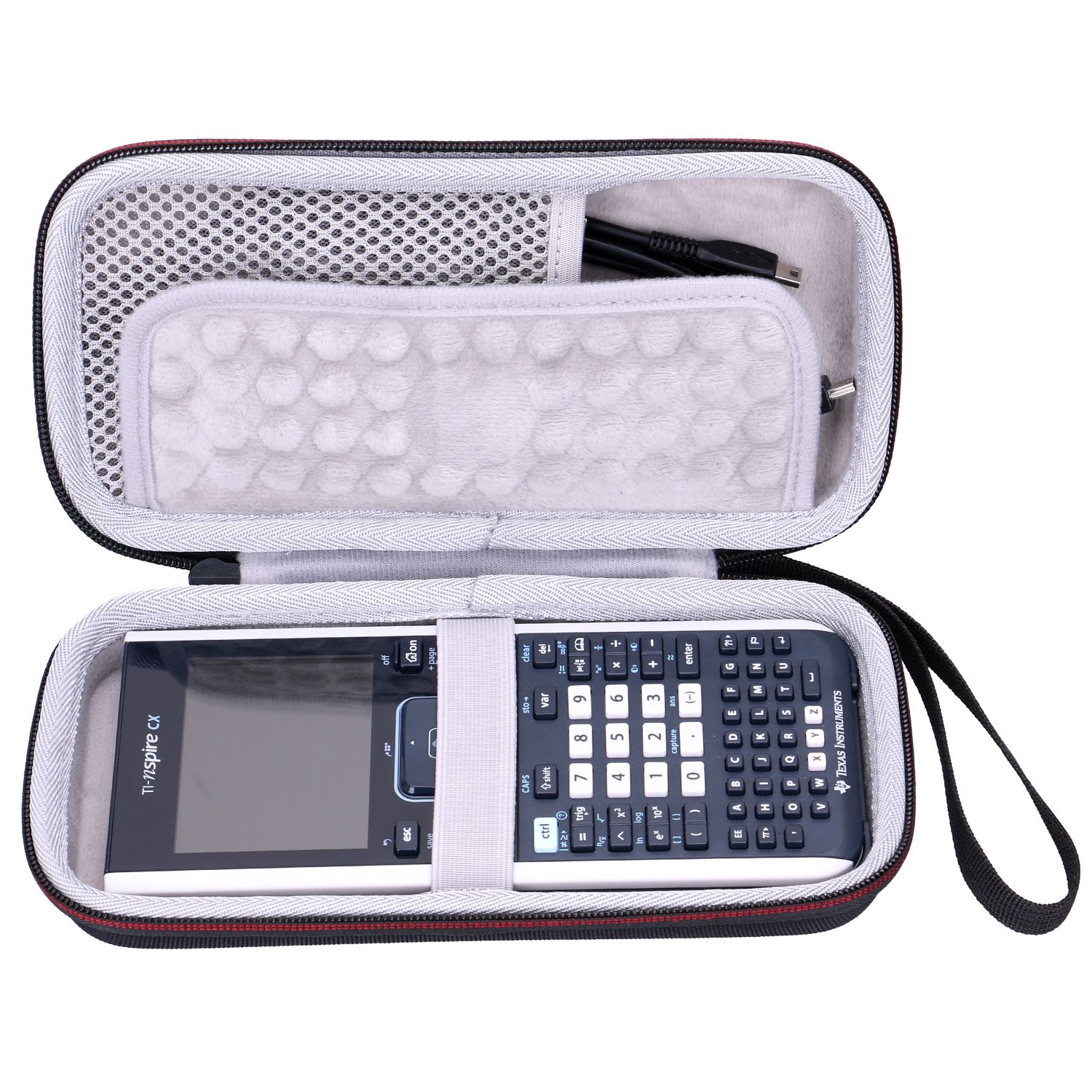 LTGEM EVA Waterproof Shockproof Carrying Hard Case For Texas Instruments TI-Nspire CX Graphing Calculator
