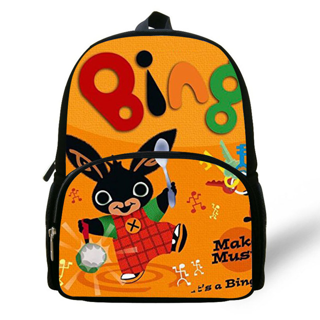 Cute Cartoon Bing Bunny Print Children School Bags For Girls Boys