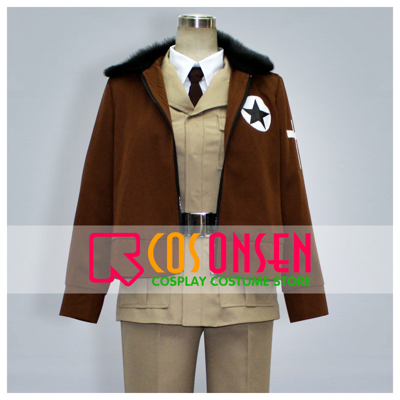 COSPLAYONSEN Axis Powers Hetalia America Cosplay Costume 6 PCS Full Set All Size