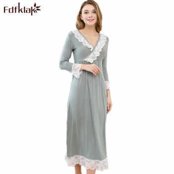 Fdfklak Sexy Sleepwear Nighties For Women Sleeping Dress Cotton Princess Nightgown Night Wear Long Nightgown Plus Size M-XXL - DISCOUNT ITEM  50% OFF All Category