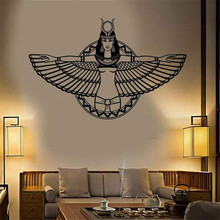 Vinyl Art Removable Poster Mural Design Stickers Ancient Egypt Queen Cleopatra Egyptian Wings Home Decor Livingroom Decals W9