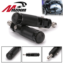 Black CNC Aluminum Universal Motorcycle Motor Bike Folding Footrests Footpegs Foot Rests Pegs Rear Pedals Set Motorcycle Parts