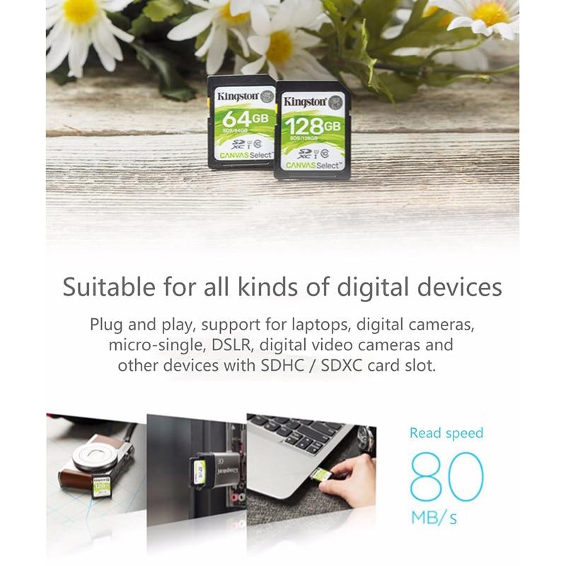 Kingston 128GB SD Card 16GB memory card Class10 64GB cartao de memoria SDHC SDXC USH-I HD video 32GB carte sd For Camera 256GB 2