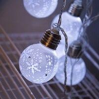 30Led Fairy Maple Leaf Hollow Carved White bulb Luminaria 220V Plug String Light 5m LED Decor For Christmas Garland Lights Chain