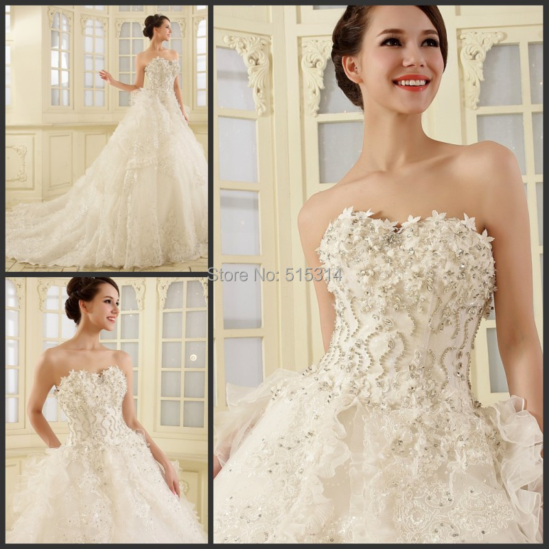 Compare prices on indian wedding gowns online shopping for Crystal design wedding dresses price