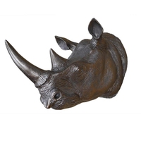 European American Antique Rhinoceros Wall Hanging Upscale Bar Home Decorations Animal Wall Decoration Creative Rhino Head