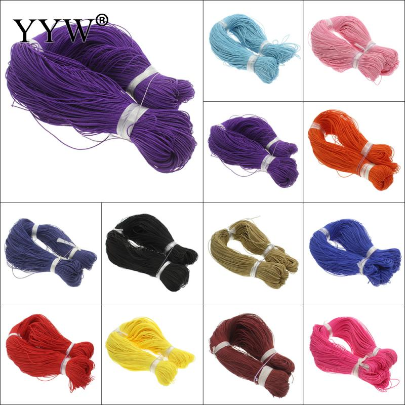 DIY Jewelry 380m/pcs Satin Cords For Silicone Teething Necklace DIY Accessary String Bracelet Silicone Necklace Cord Nylon