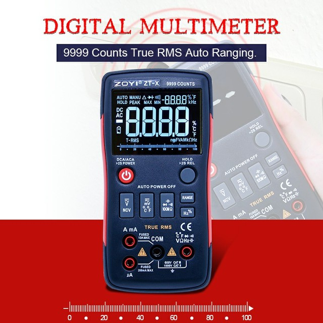 ZOYI ZT X Digital Display Multimeter ac dc voltmeter true rms auto ...
