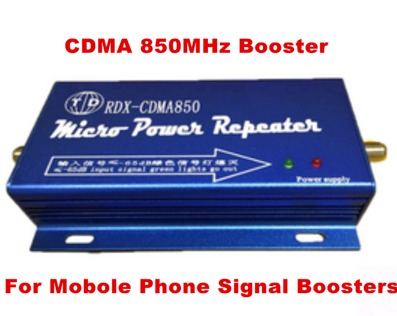 CDMA 850mhz Mobile Phone Signal Booster 65dB Gain Mini GSM 850 3G UMTS 850 Cell Phone Signal Repeater Amplifier