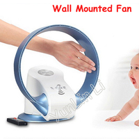 Wall Mounted Electric Fan 110V/220V Table No Leaf Air Purification Bladeless Fans